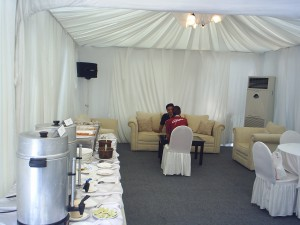 Tenda Mewah istirahat Menteri