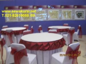 sewa meja round table