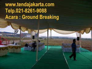 sewa tenda GROUND BREAKING