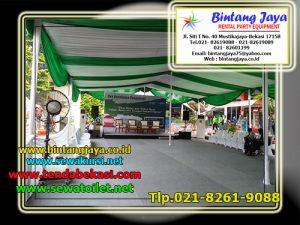sewa tenda dekorasi serut hijau putih