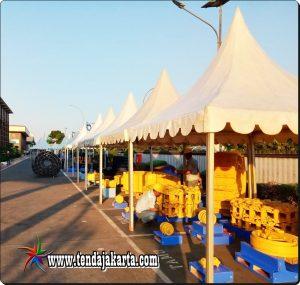 Sewa Tenda Kerucut ( Sarnafil ) 3x3 M di Jakarta Pusat