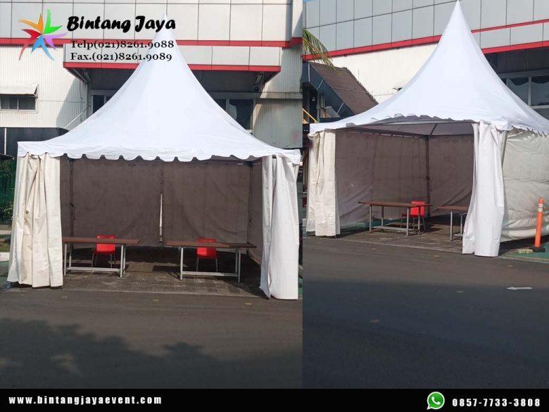 Sewa Tenda Kerucut Ruang Vaksin di acara Vaksinasi Jakarta