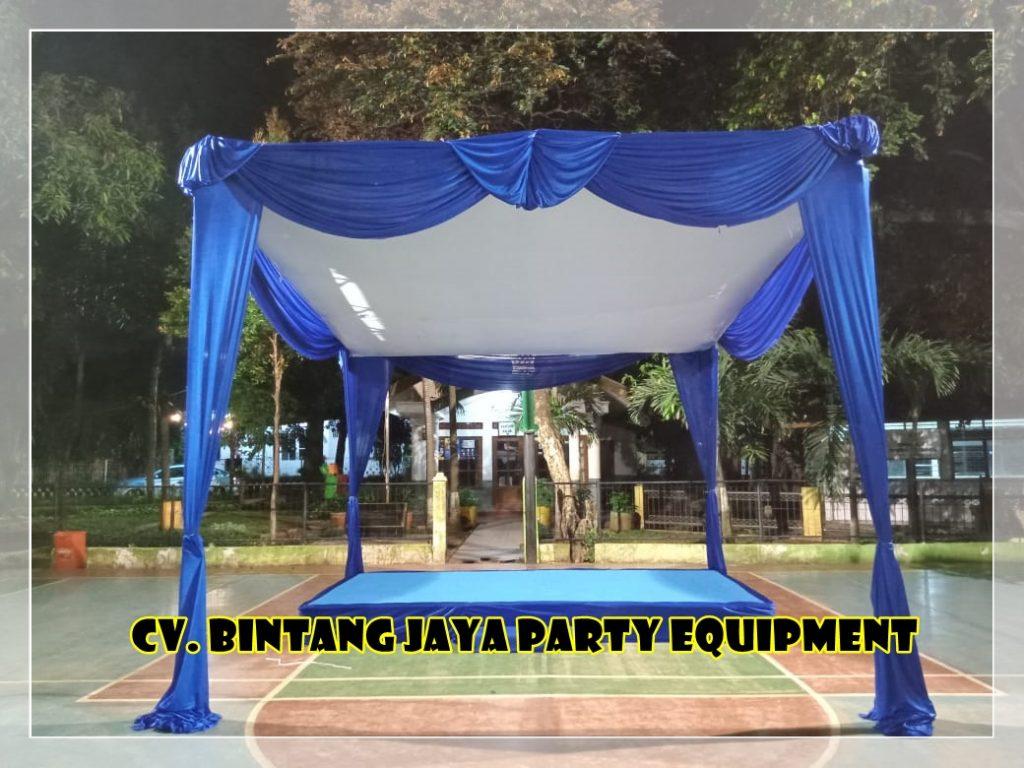 Gudang Tenda - Rental Tenda Plafon Tirai Biru